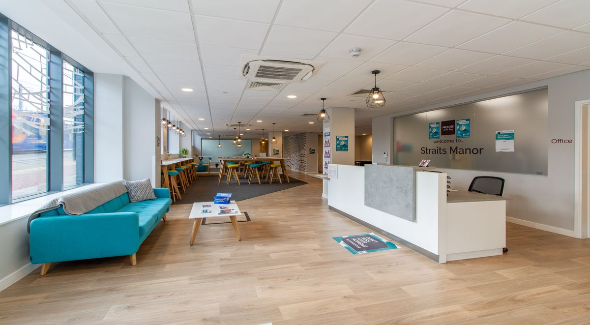 Reception Straits Manor Student Accommodation Sheffield