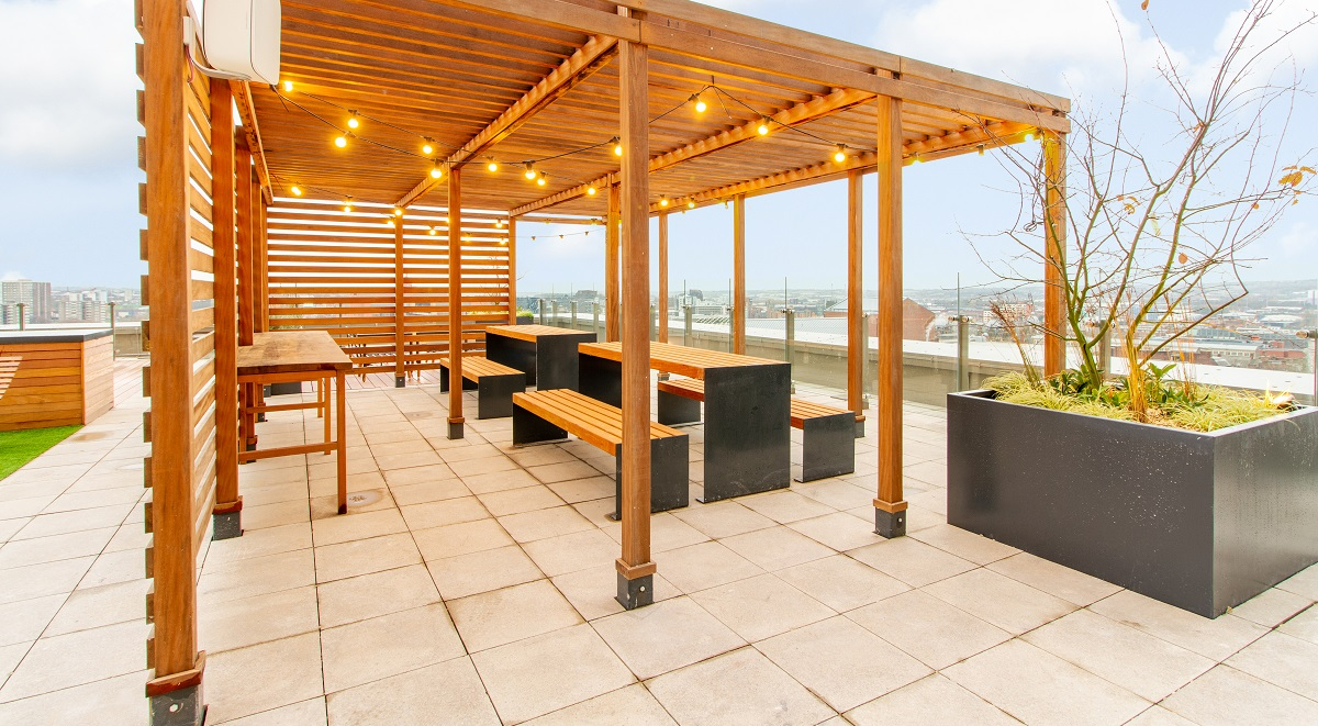 Student Accommodation Leeds Roof Terrace