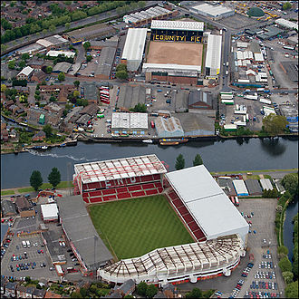 image of Notts County and Nottingham Forest Football grounds