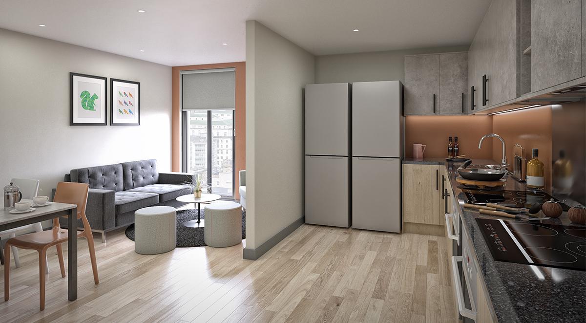 Student Accommodation Bowline Kitchen Liverpool