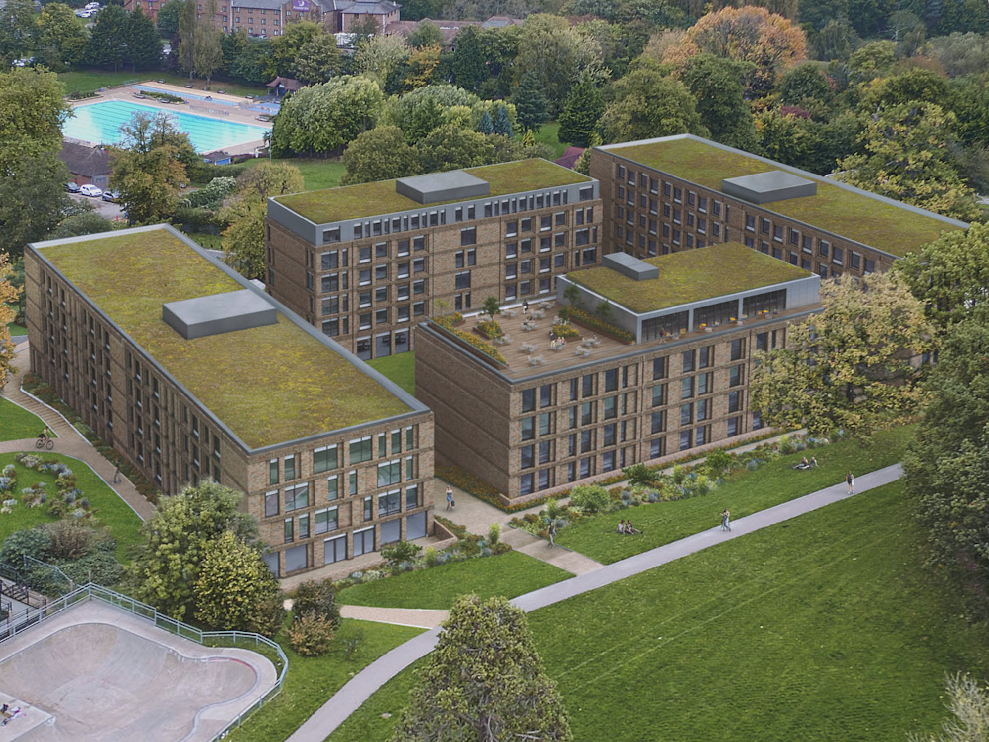 Exterior Student Accommodation Guilden Park