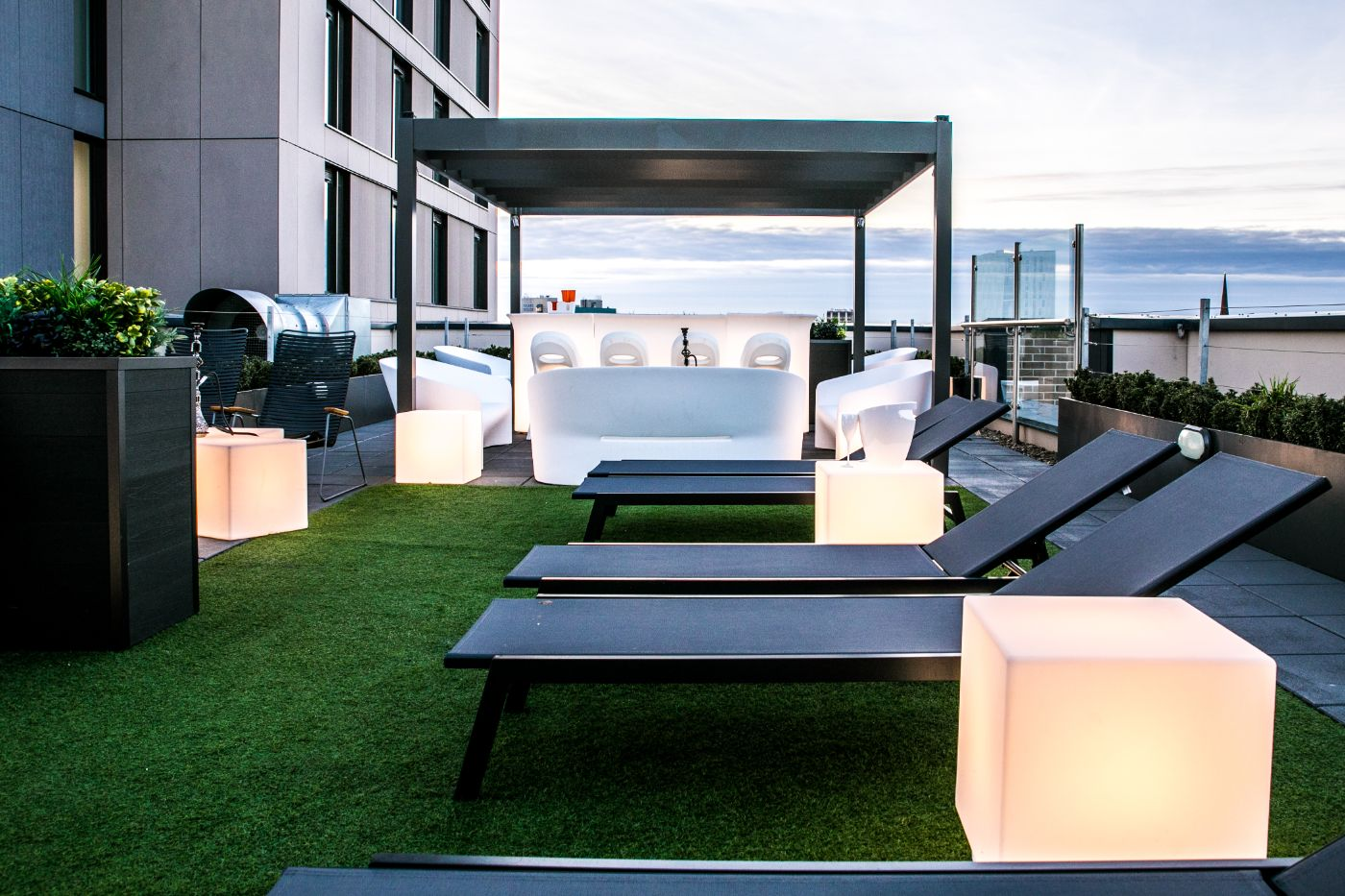 33 Parkside student accommodation roof terrace 4