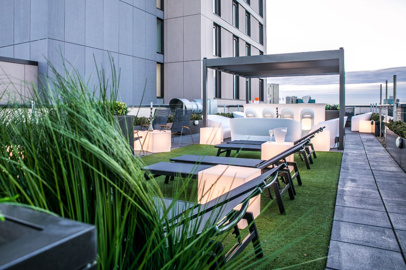 33 Parkside student accommodation roof terrace