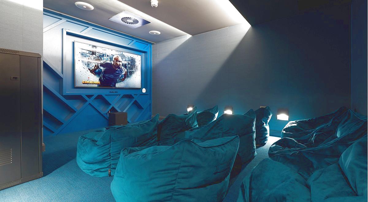 Cinema room residence student accommodation