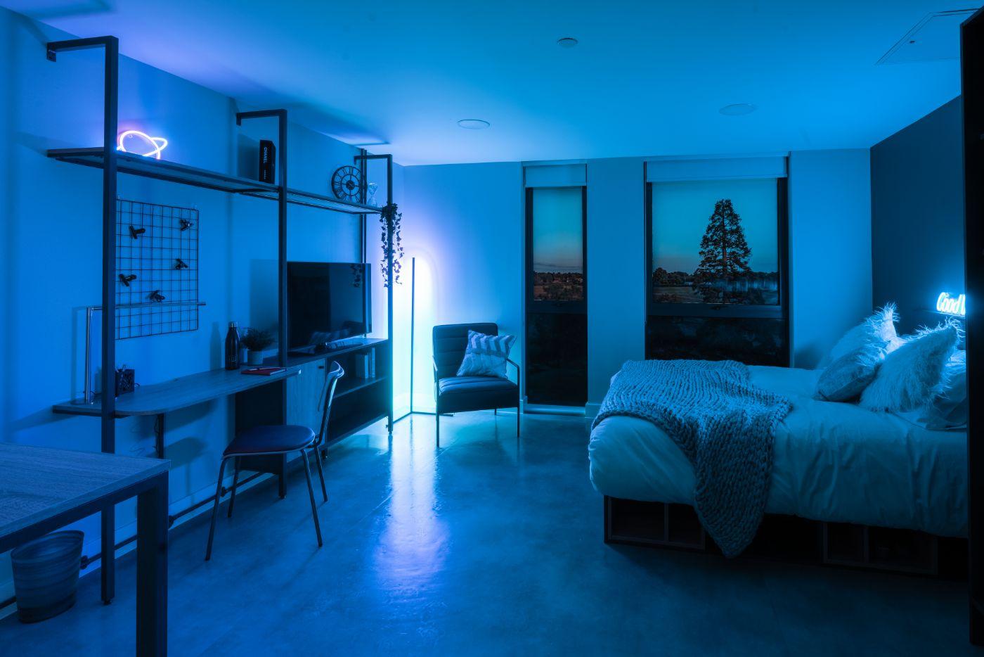 studio bedroom the vantage student accommodation