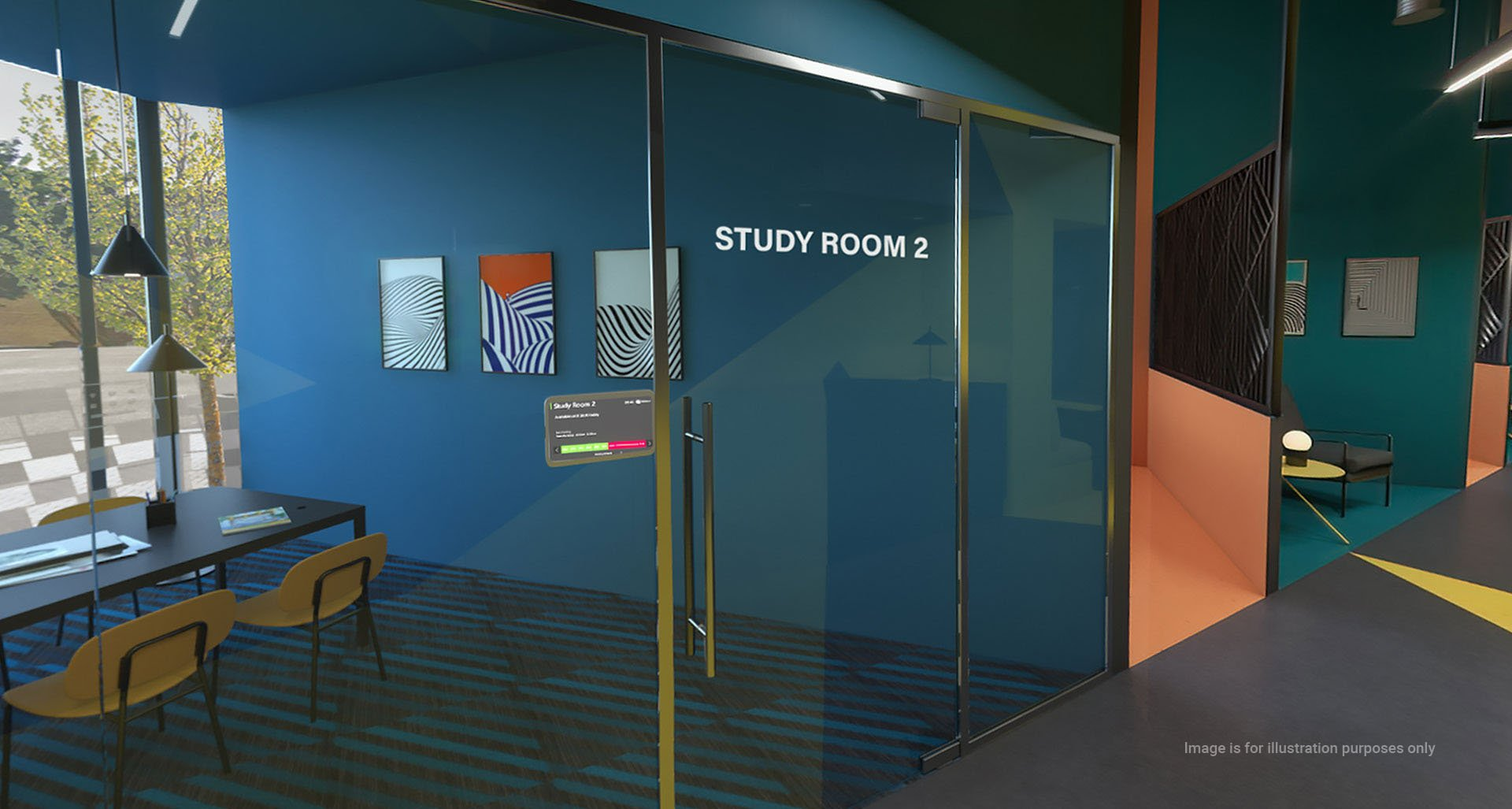 Luxurio student accommodation study area