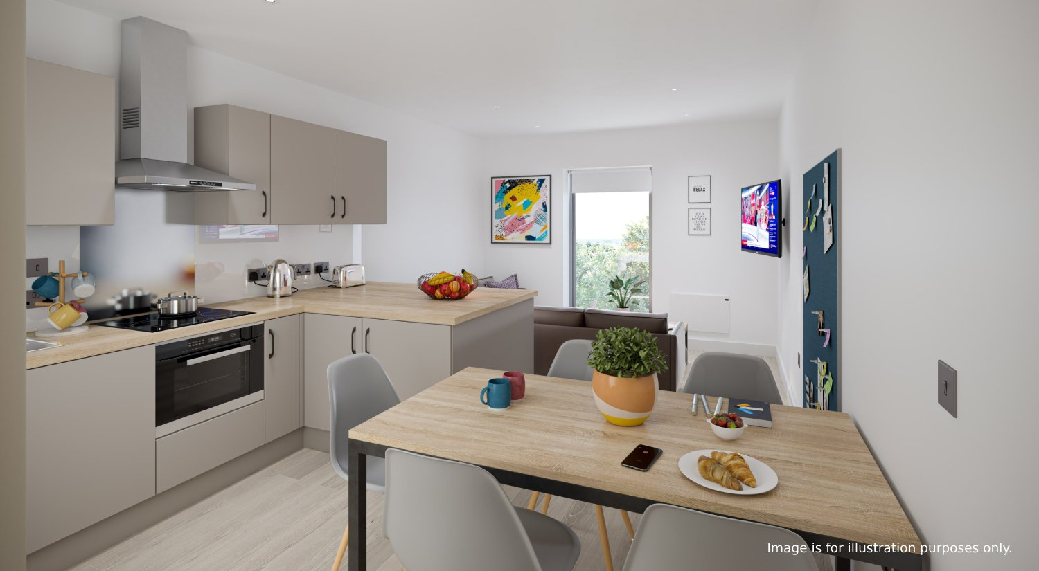 straits meadow luxury student accommodation kitchen 2