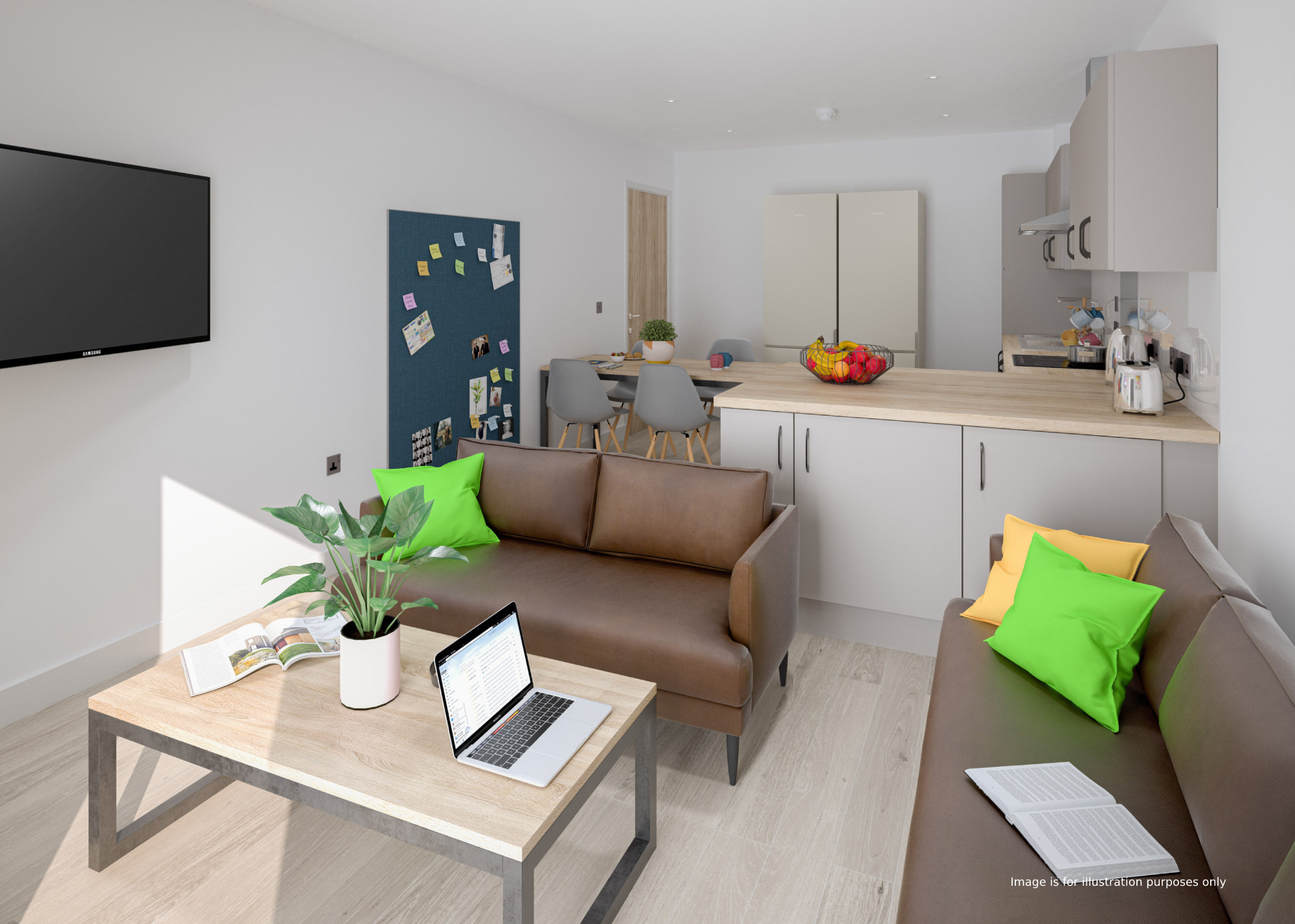 student accommodation edinburgh straits meadow kitchen