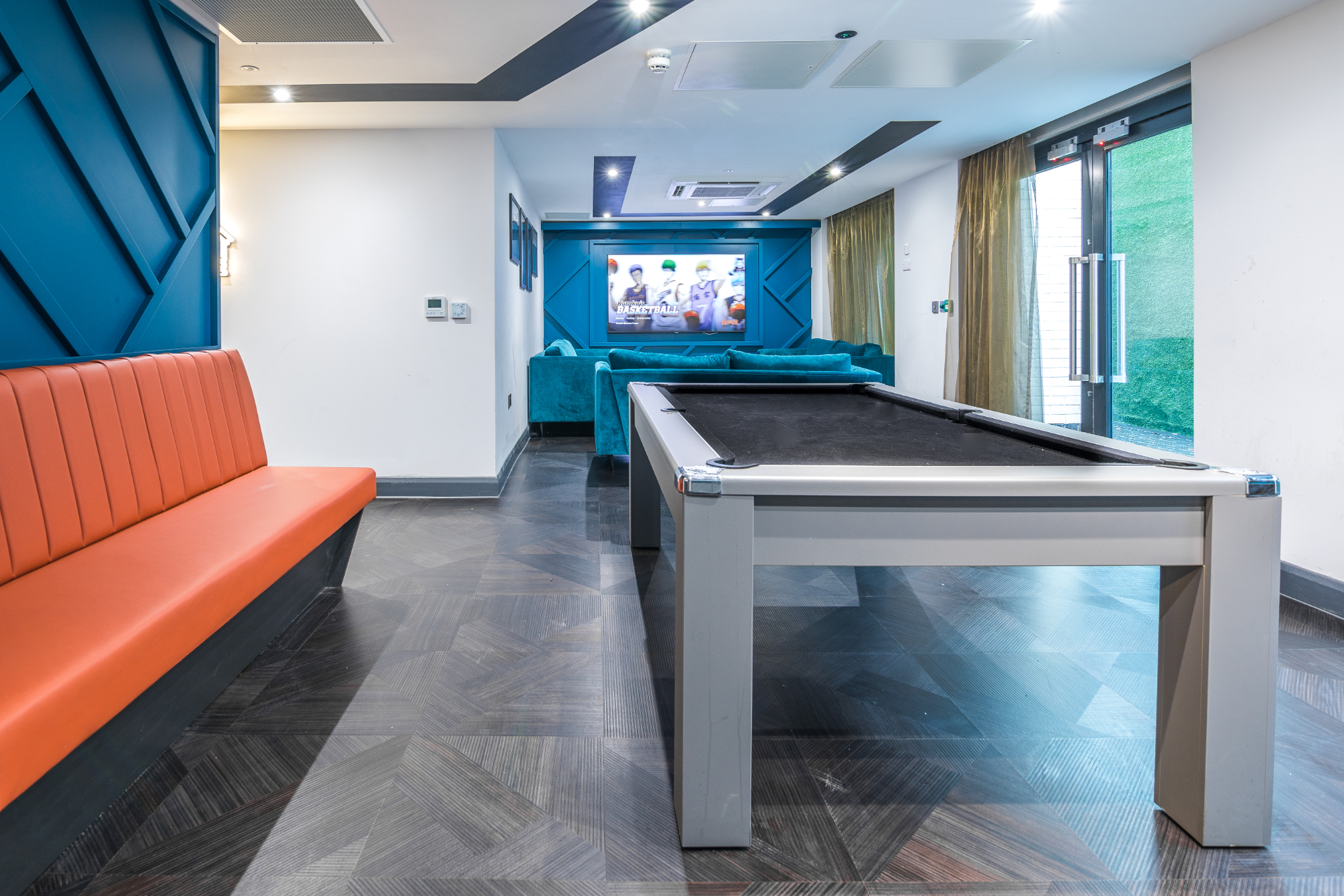 The Residence student accommodation coventry reception games area