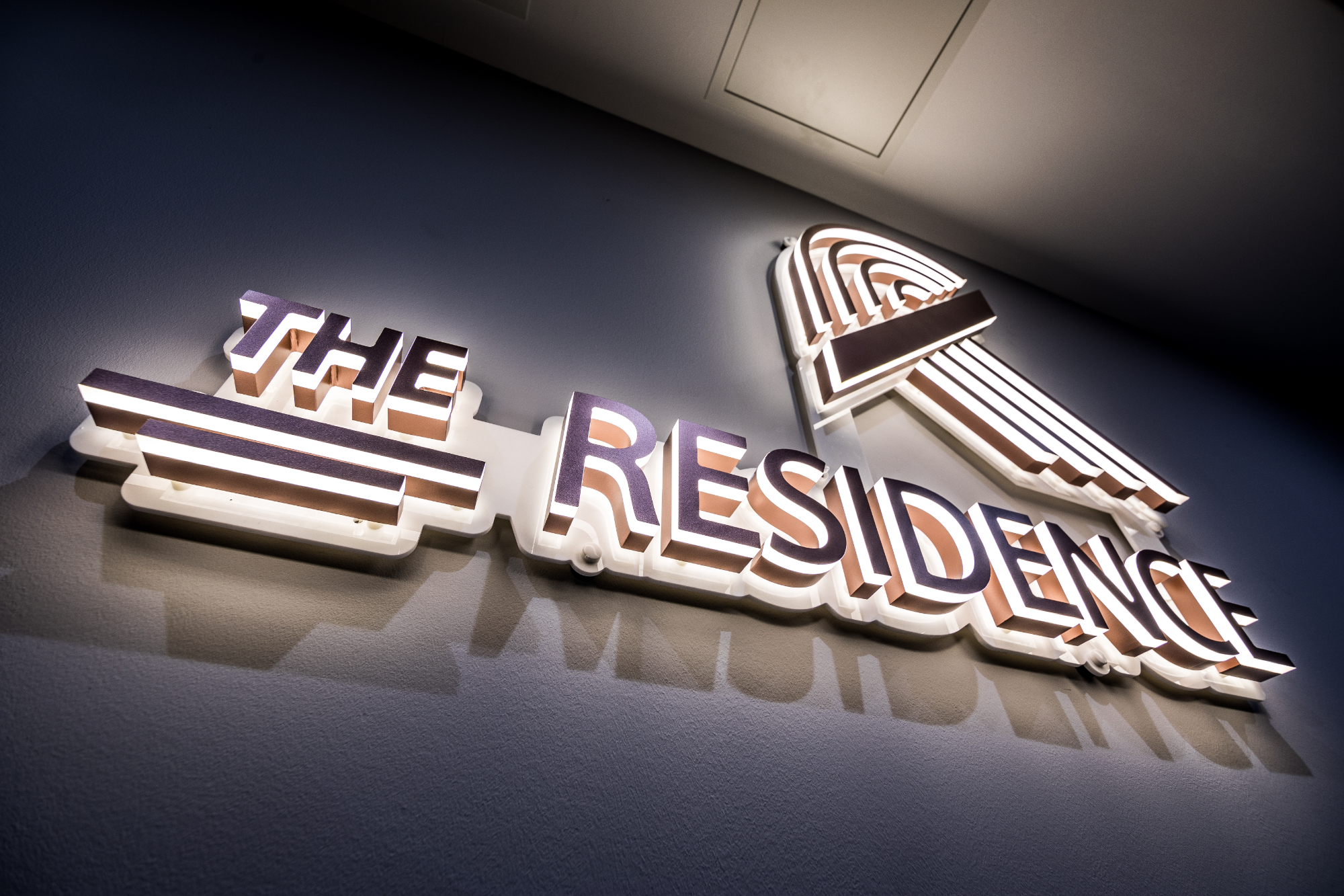 The Residence student accommodation coventry reception logo