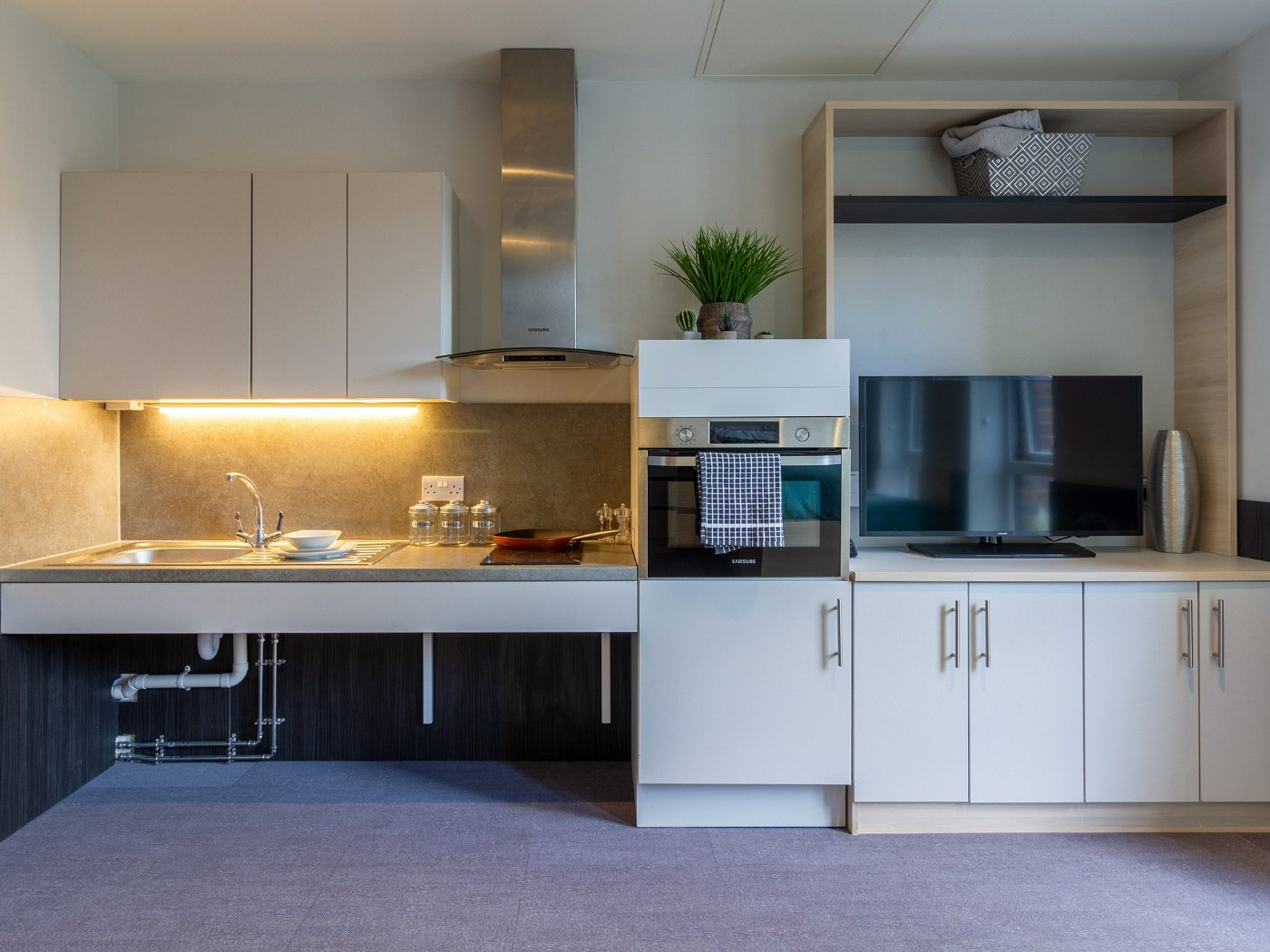 Kitchen in Accessible Studio in Hythe Mills