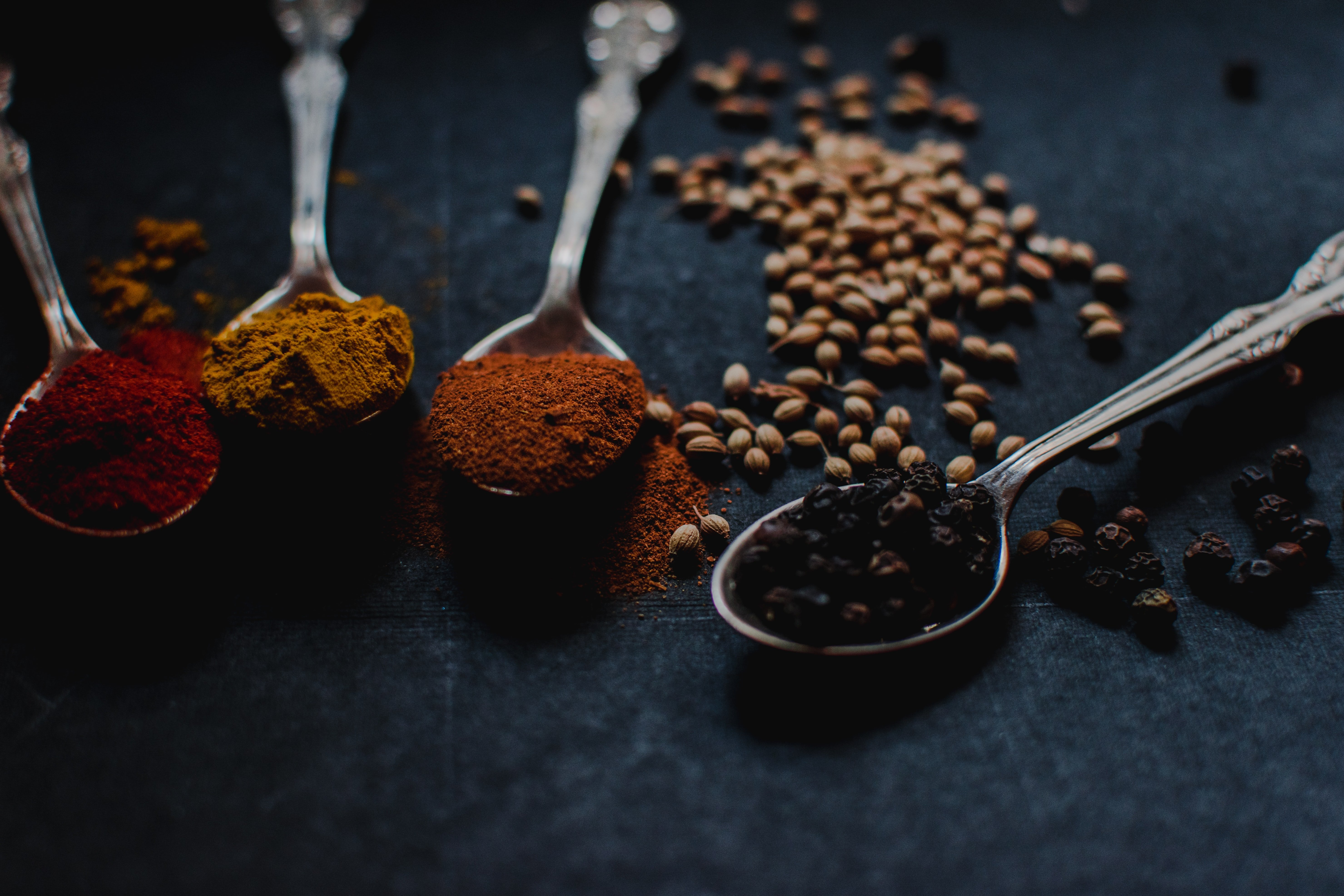 Picture of spices used in indian food