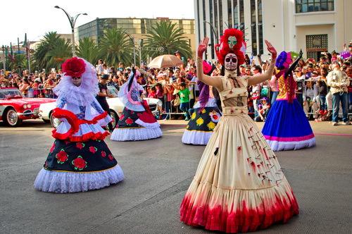 mexico day of the dead dancing